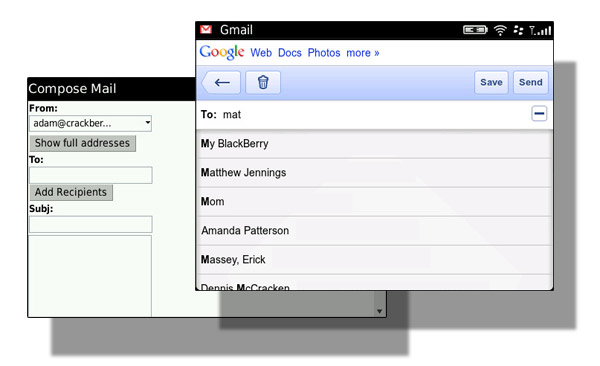how to see contacts in gmail mobile