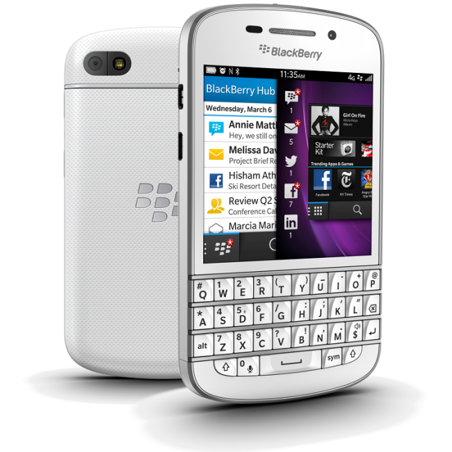 blackberry q10 white купить