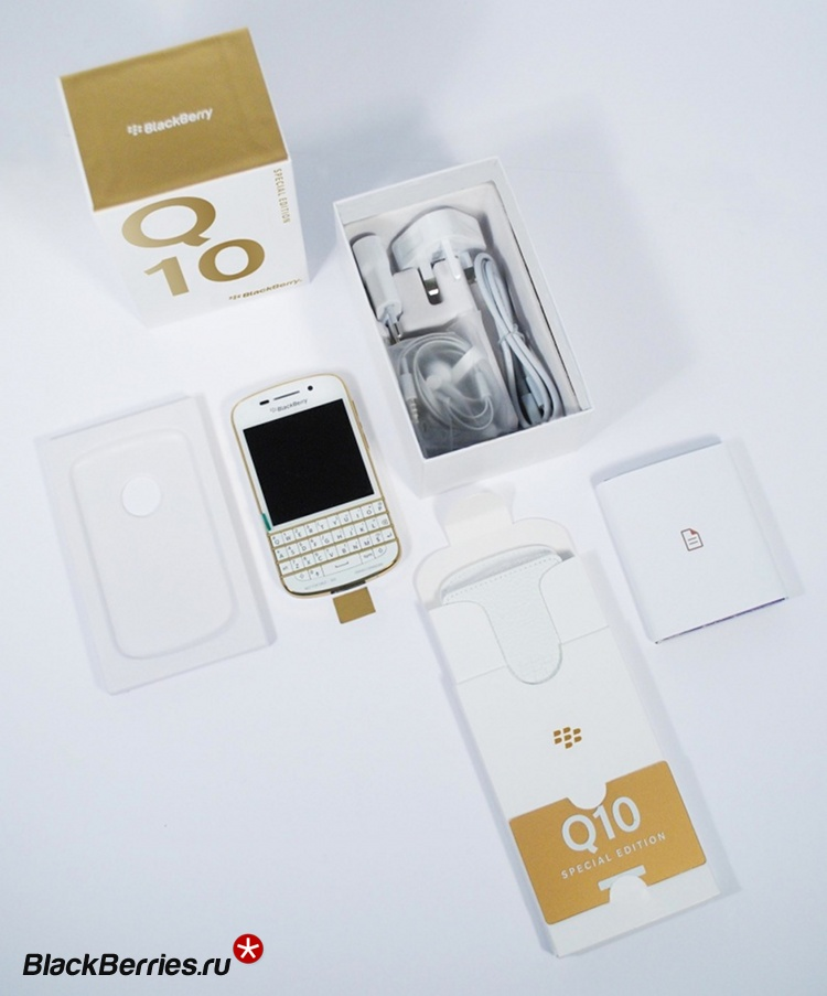 Gold and White Special Edition BlackBerry Q10 (1)