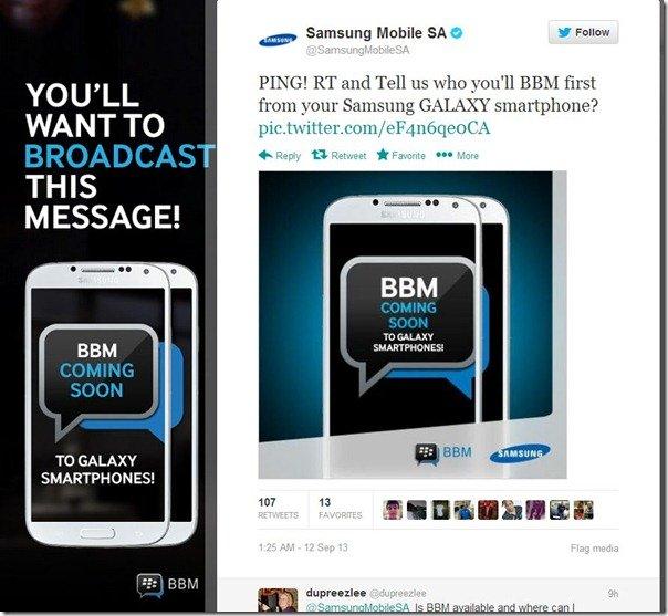 SamsungBBMTwitter