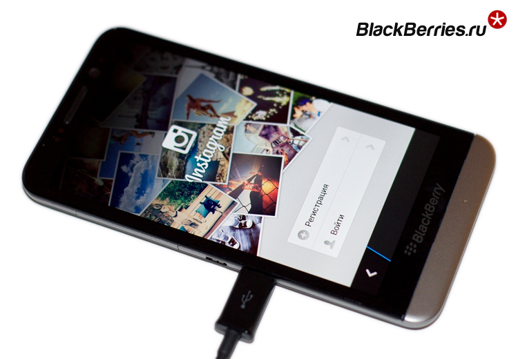 BlackBerry Z30 instagram