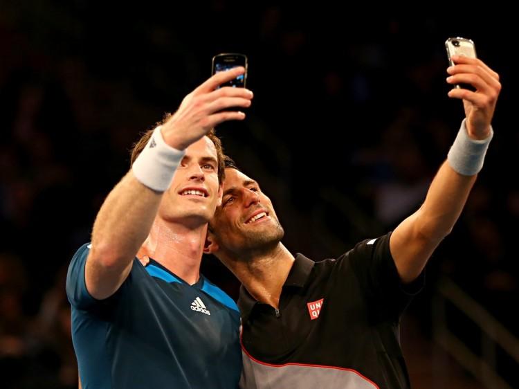 Andy Murray and Novak Djokovic
