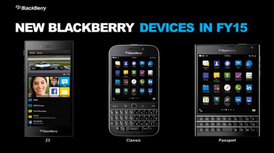 Первые официальные изображения BlackBerry Classic и Passport