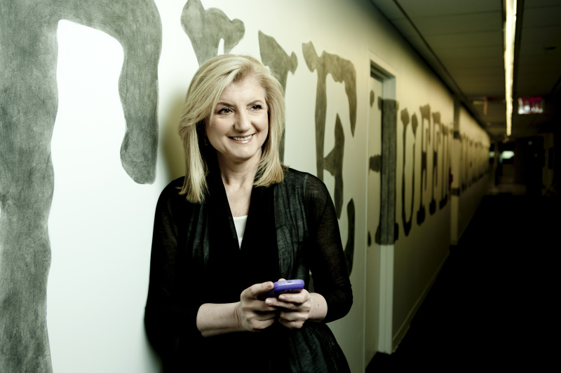 Arianna Huffington In New York