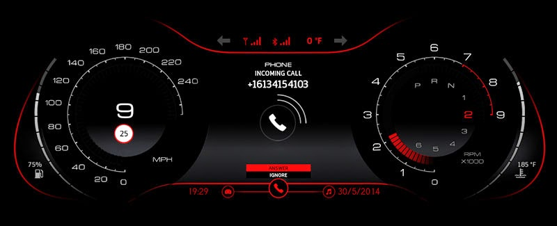 qnx_mercedes_cluster_incoming_call_screen