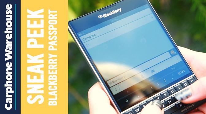 Первый рекламный ролик BlackBerry Passport!