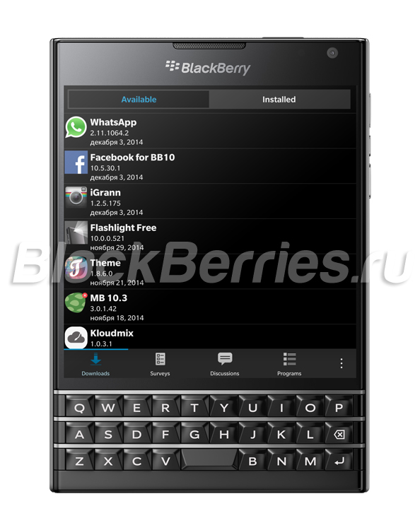BlackBerry Beta Zone: новые версии Facebook, iGrann и WhatsApp для