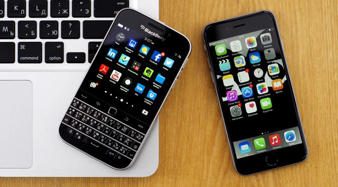 BlackBerry Classic в сравнении с Passport, Q10, Bold 9900 и iPhone 6