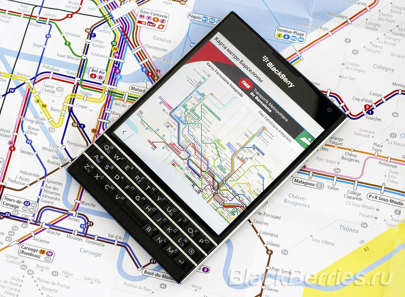 BlackBerry-Passport-Barselona-Map