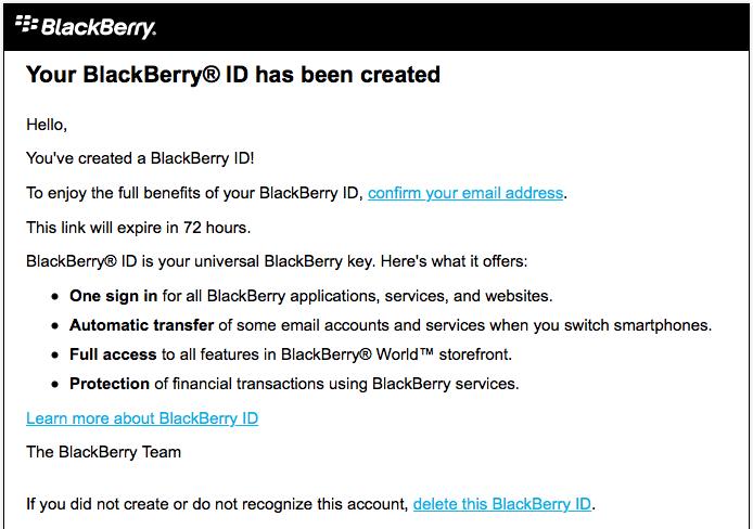 BlackBerry ID - BlackBerry в России
