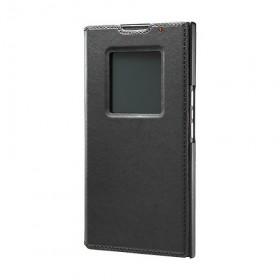BlackBerry-Leather-Smart-Flip-Case-(Black)-2