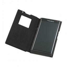 BlackBerry-Leather-Smart-Flip-Case-(Black)-4