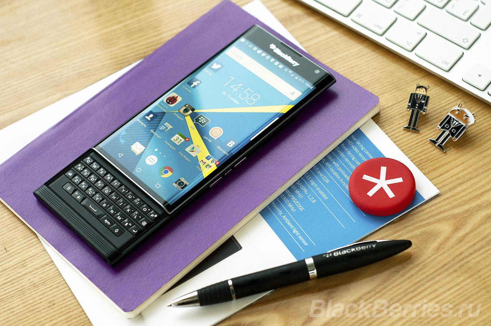 Готовим обзор смартфона BlackBerry Priv