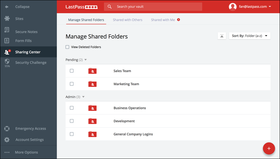 lastpass-Sharing-Center