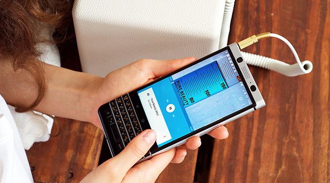 Лучшие музыкальные плееры для BlackBerry KEYone