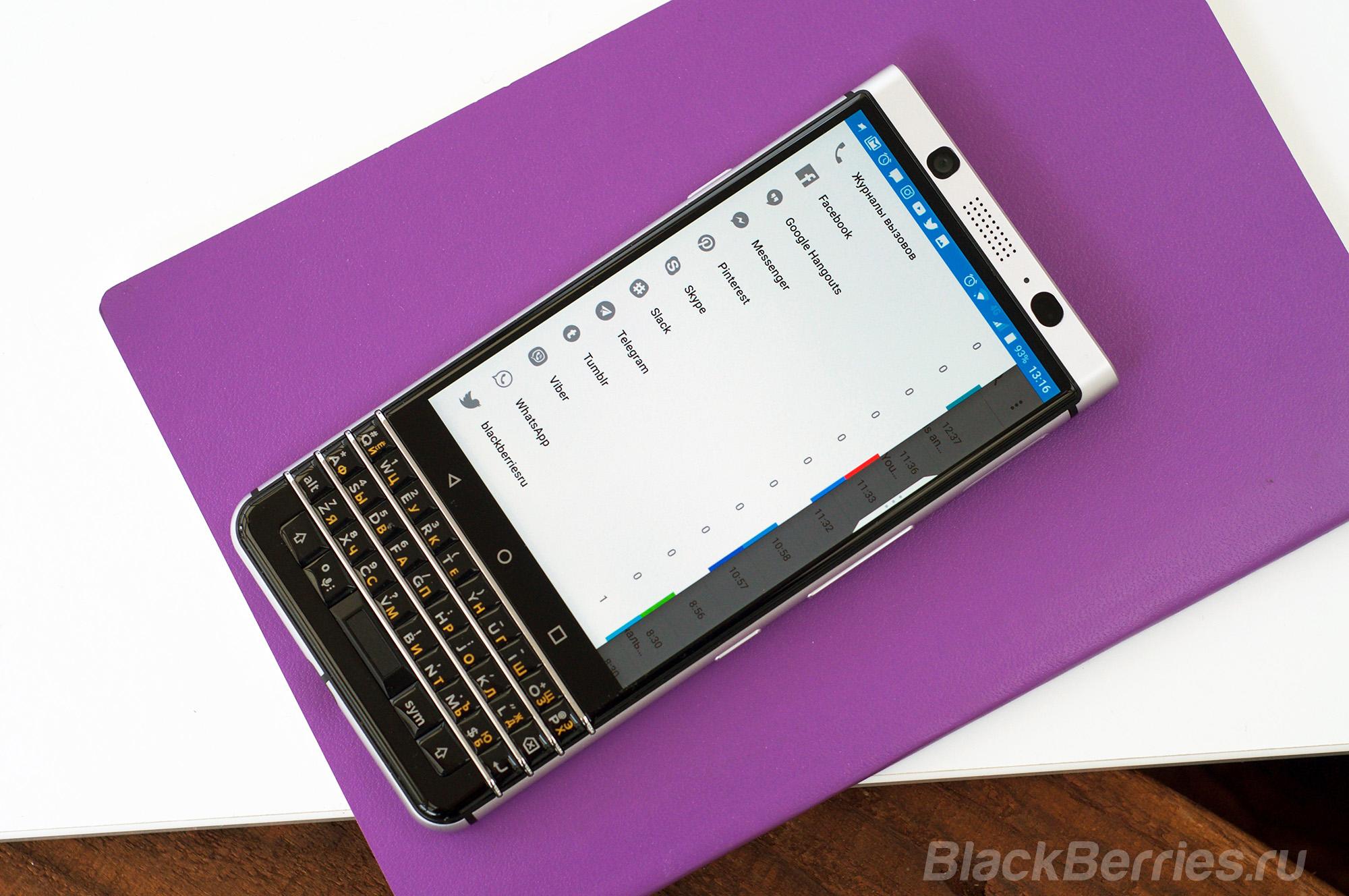 Обзор BlackBerry KEYone c русской клавиатурой | BlackBerry в России