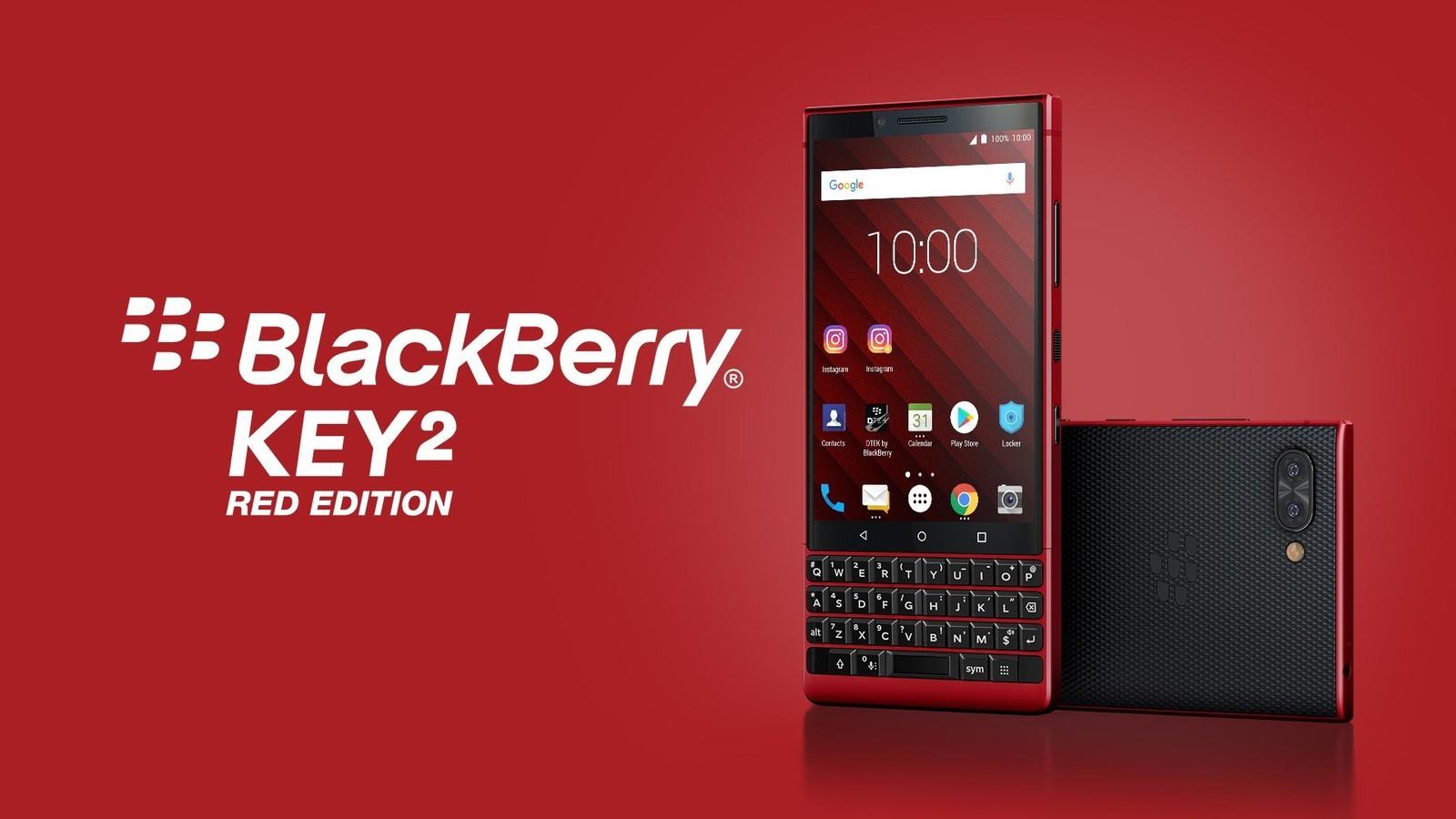 Картинки по запросу BlackBerry KEY2 Red Edition